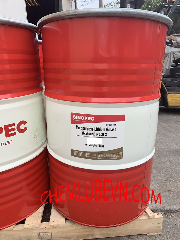 SINOPEC MULTI-PURPOSE LITHIUM GREASE NLGI 1,2,3