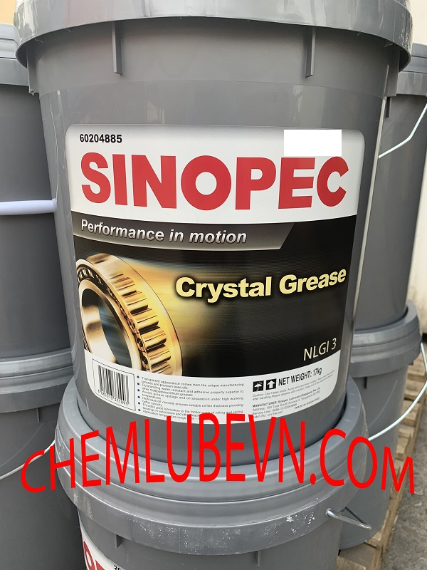 SINOPEC CRYSTAL GREASE NLGI 1,2,3,T3(4)