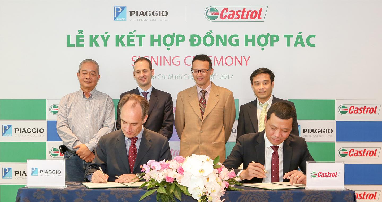 Castrol kí thỏa thuận cung cấp dầu nhớt độc quyền cho xe Piaggio